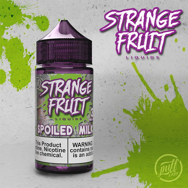 Puff Labs Strange Fruit Spoiled Milk E-Liquid 30ML and 100ML