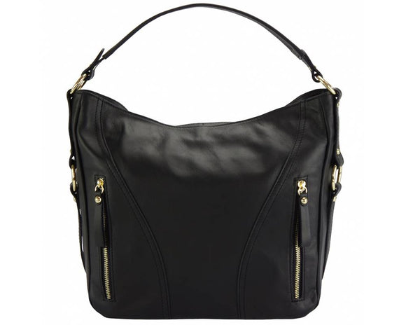 Shoulder Bag in Calf Leather - Tiramisu Shoes