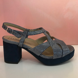 Blue platform sandals - Tiramisu Shoes