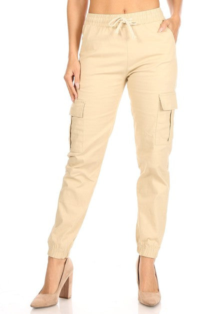 Cargo Jogger Pants - Tiramisu Shoes