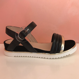 Flat Leather Sandals - Tiramisu Shoes