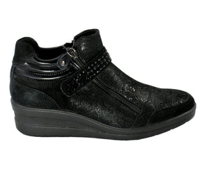 Enval Sneaker with Zip and Velcro - Tiramisu Shoes
