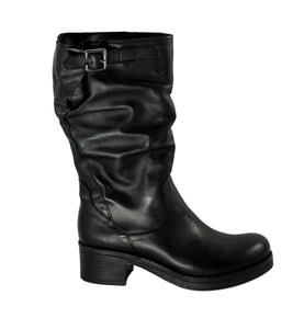 Divine Follie Mid-Calf Leather Boot - Tiramisu Shoes