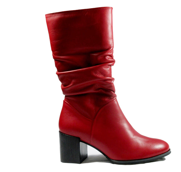 Softwaves Red Boots - Tiramisu Shoes