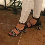 Brenda Zaro Sandals Snake - Tiramisu Shoes