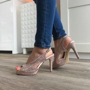 Pink Shimmer Pump - Tiramisu Shoes
