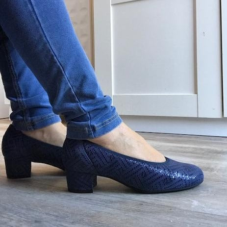 Blue Pump - Tiramisu Shoes