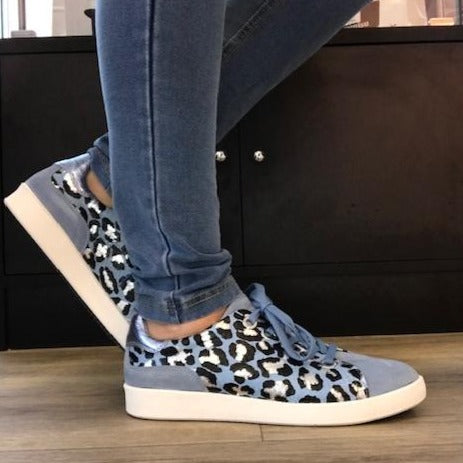 Leather Jeans/Leopard Sneakers - Tiramisu Shoes