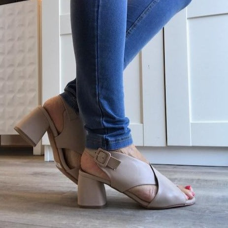 Nude Sandals - Tiramisu Shoes