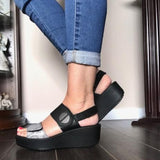 Ajustable Platform Sandals - Tiramisu Shoes