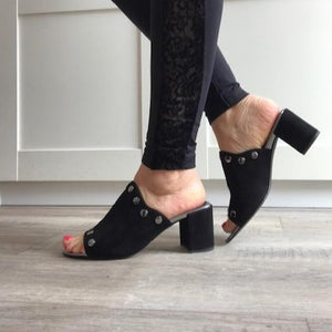 Black Mule - Tiramisu Shoes