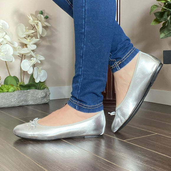 Silver Ballerina shoes