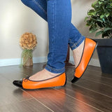 Orange Ballerina Shoes