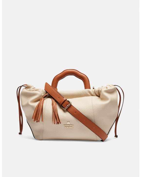 Beige  Small Tote Bag - Tiramisu Shoes