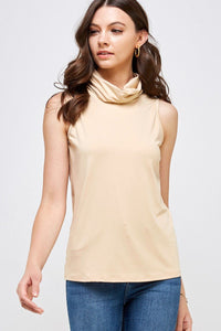 High Neck top with Ear-loop - Tiramisu Shoes