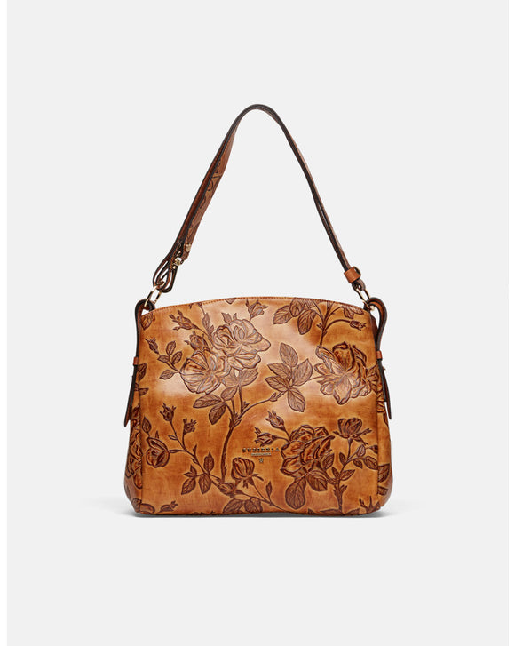 Printed Calfskin Shoulder Bag - Tiramisu Shoes