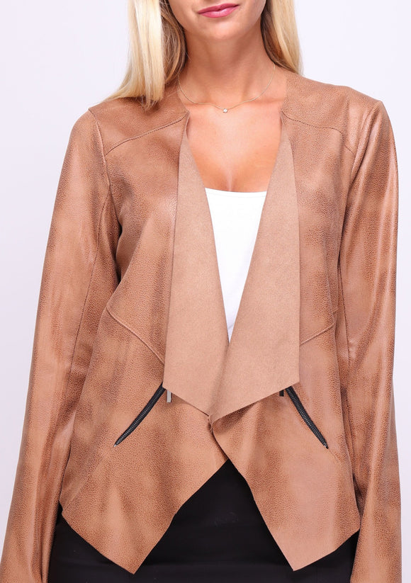 Vegan Leather Cozy Jacket
