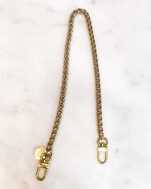 Nikki Mini Gold Chain & Pink Mask
