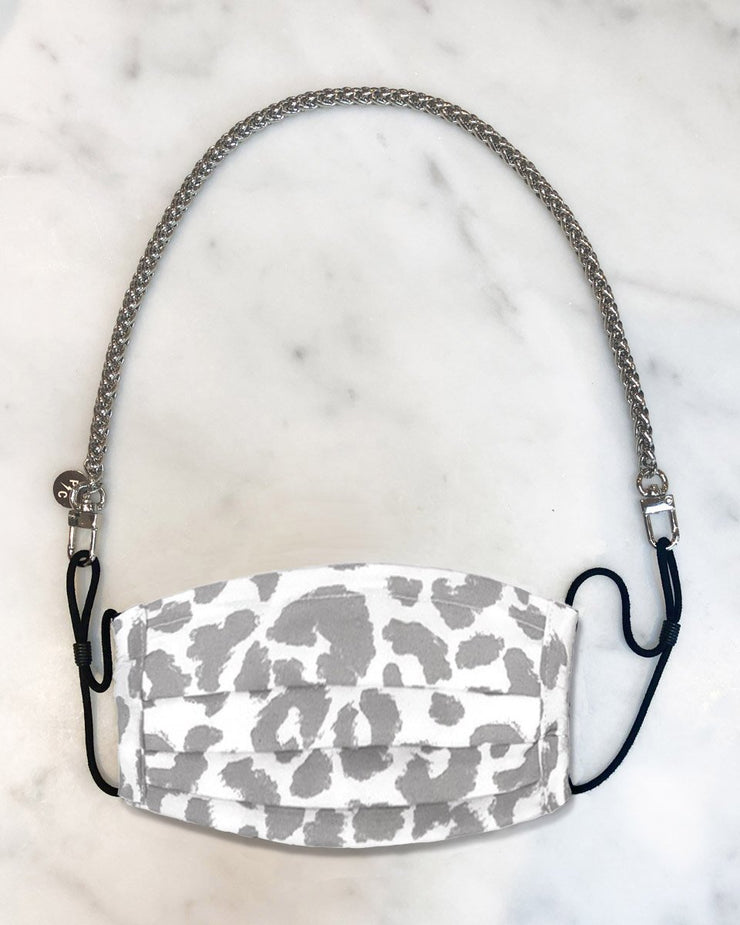 Nikki Mini Silver Chain & Snow Leopard Mask