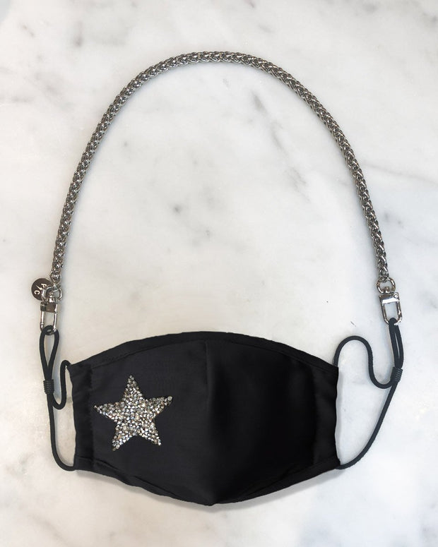 Nikki Mini Silver Chain & Crystal Star Mask