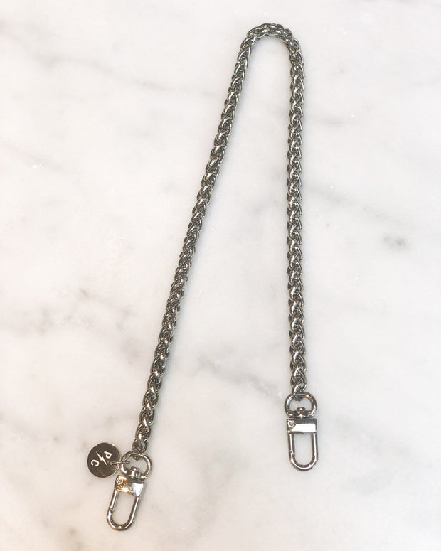 Nikki Mini Silver Chain & Pink Mask