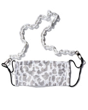 White Makeda Chain & Snow Leopard Mask