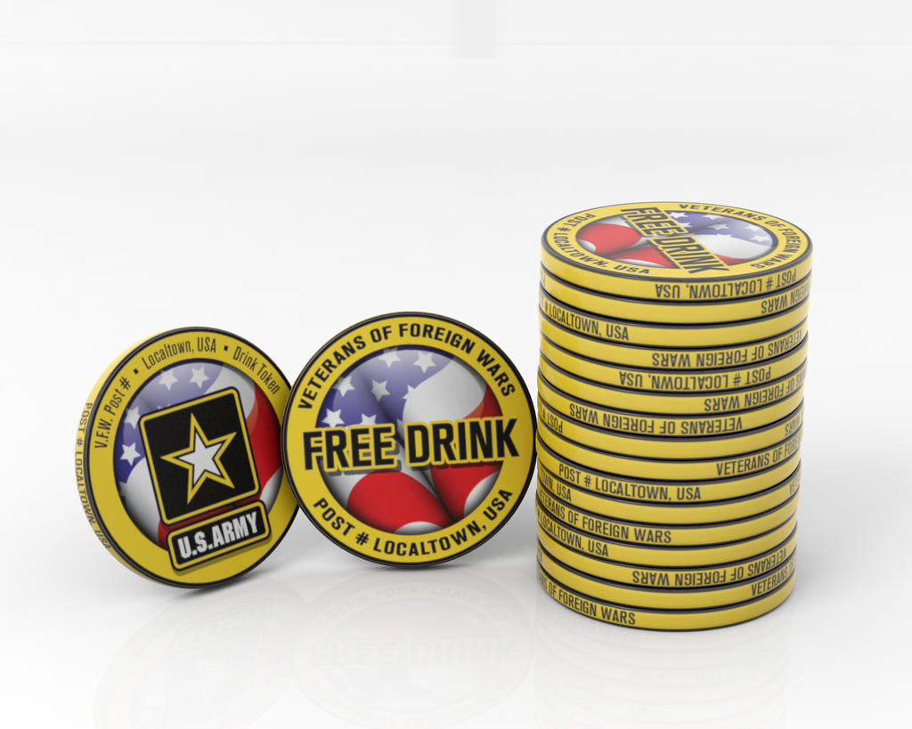 VFW and US Armed Forces Pub Tokens