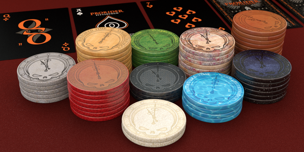 Borrowed Time Poker Chips – 39mm