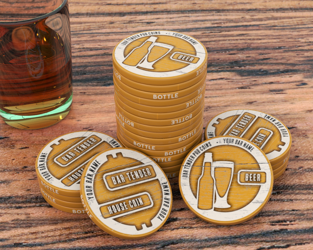 Saloon-style Tokens - Semi-Custom - 39mm