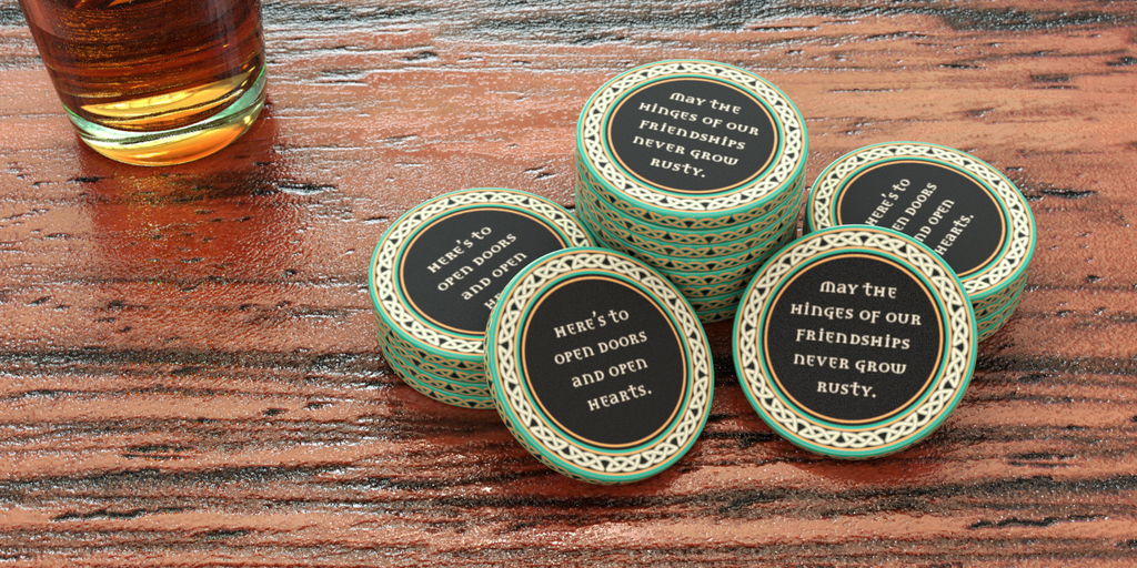 Irish-style Pub Tokens - Stock - Generic - 39mm