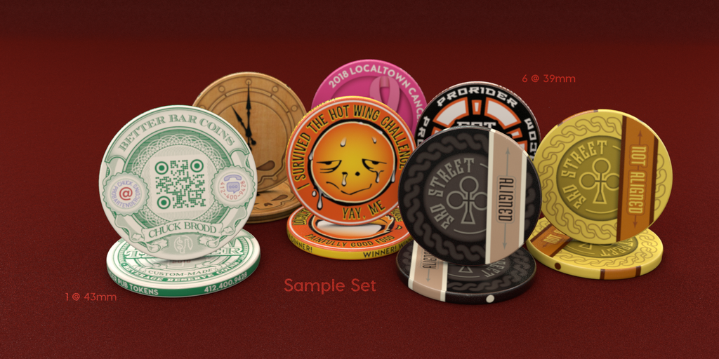 Sample Chips & Tokens
