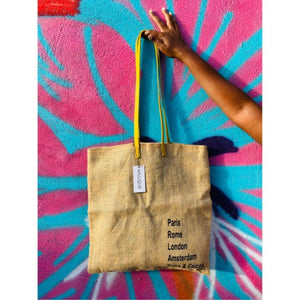 The Ginny Tote - Yellow Leather Strap