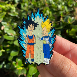 Open image in slideshow, Super Saiyan Beavis and ButtHead Enamel Pin