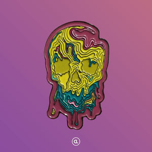 Melt your skull-itus enamel pin