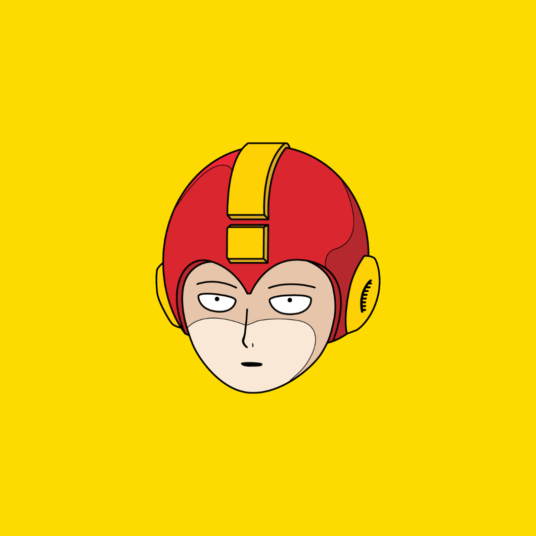 Mega One Punch Man Enamel Pin