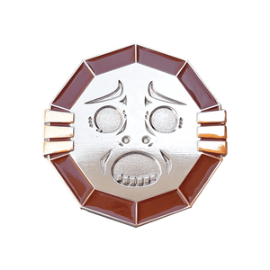 Mirror Shield Enamel Pin - Pin Plugged