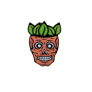Strawberry Skull Enamel Pin - Pin Plugged