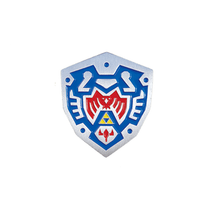 Hero's Shield Enamel Pin - Pin Plugged