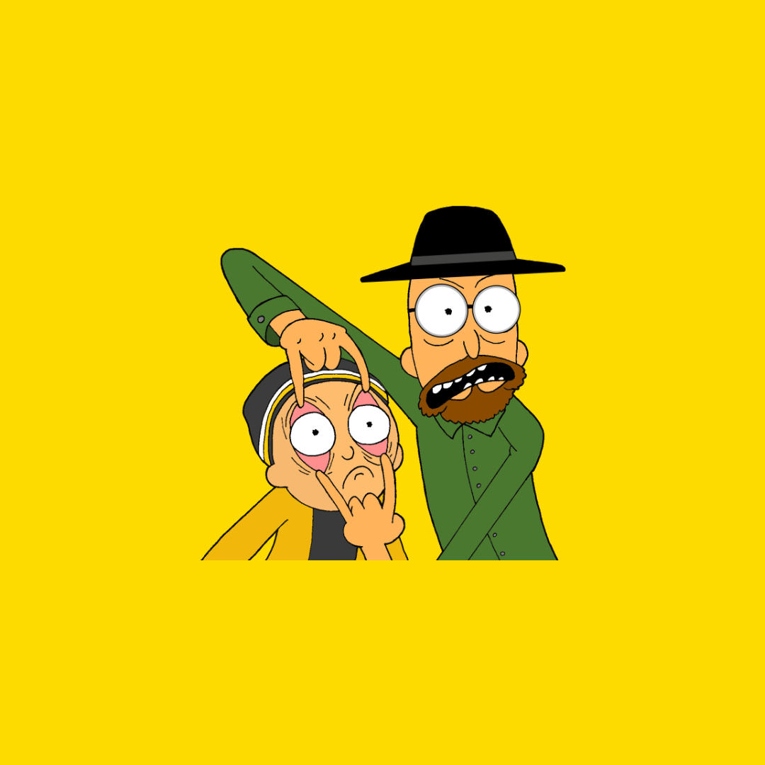 Rick And Morty X Breaking Bad enamel pin