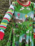 EXCLUSIVE - Hairy Sheep - Clouds & Stripes-Custom-Splashings of Fabric
