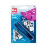 Prym Metal Ring Top Press Fasteners - 10mm Tool Kit - White-Prym-Splashings of Fabric