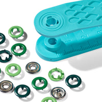 Prym Love Metal Snaps - Green Mix - 8mm-Prym-Splashings of Fabric