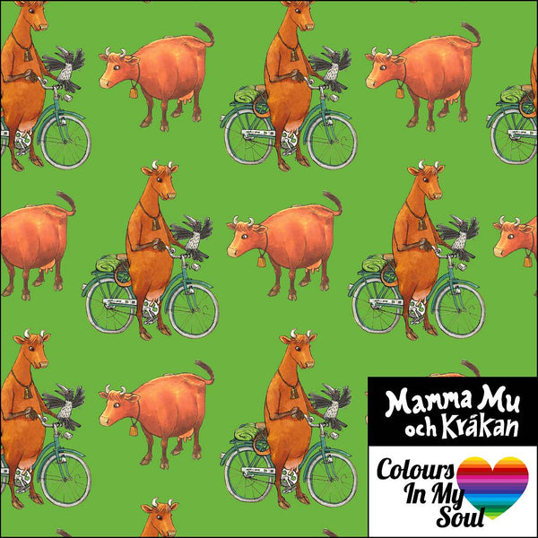 Mamma Moo and Crow - Bicycles - Green-Colours in my soul-Splashings of Fabric