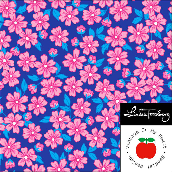 Britta - BIG - Blue/Pink - Organic Jersey-Vintage In My Heart-Splashings of Fabric