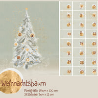 Christmas Tree - Advent Calendar - Panel - Organic Cotton Poplin-Lillestoff-Splashings of Fabric