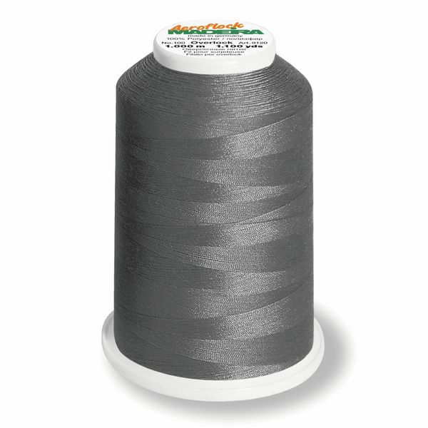 Silver Grey 8111 - Madeira Aeroflock No. 100 Bulk Thread 1000m-Madeira-Splashings of Fabric