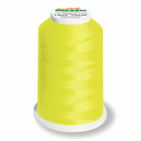 Neon Yellow 8230 - Madeira Aeroflock No. 100 Bulk Thread 1000m-Madeira-Splashings of Fabric