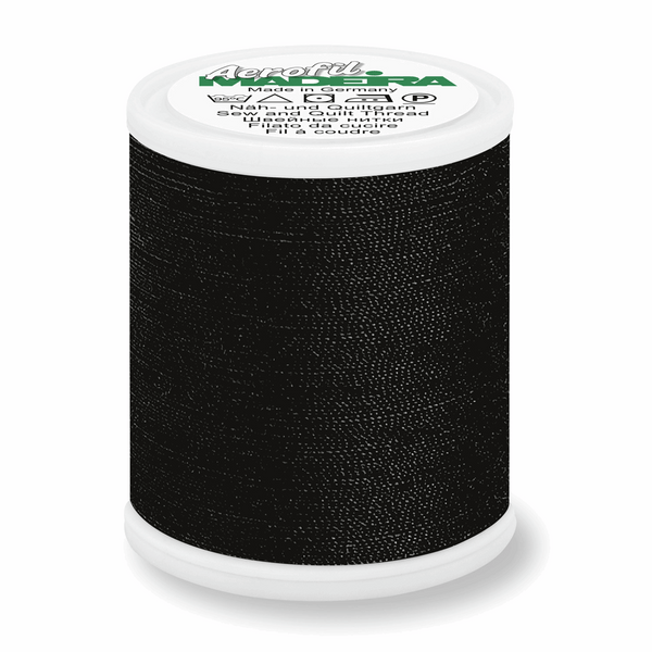 Black - Madeira Aerofil No.120 Sew All Thread 1000m-Madeira-Splashings of Fabric