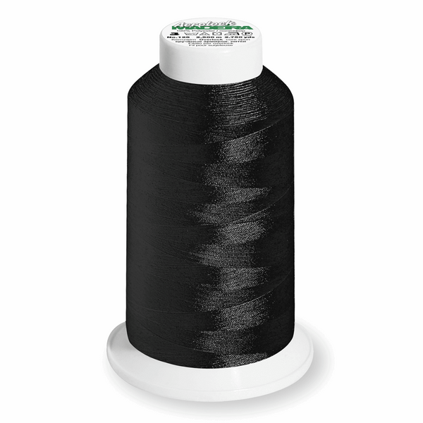 Black 8000 - Madeira Aerolock No.125 Overlocker Thread 2500m-Madeira-Splashings of Fabric