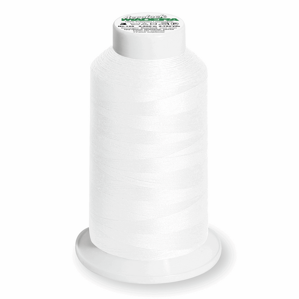 White 8010 - Madeira Aerolock No.125 Overlocker Thread 2500m-Madeira-Splashings of Fabric